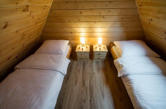 Piękny pokój z dwoma łóżkami, wczasy nad morzem domki, Sarbinowo