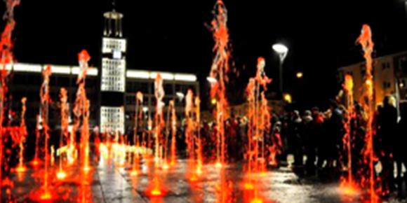 Fontanna multimedialna, pokaz świateł - Wakacje nad morzem, Domki na wynajem Sarbinowo