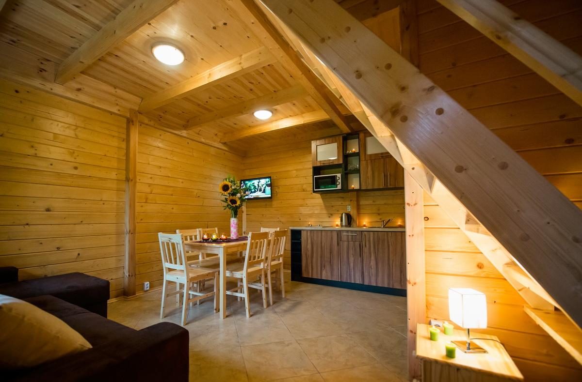 Piękne wnętrze domku, wczasy nad morzem domki, Sarbinowo